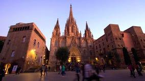 Barcellona è città capitale e più grande della Catalogna come pure il secondo comune popolato della Spagna fotografie stock libere da diritti