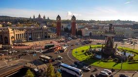 Barcellona è città capitale e più grande della Catalogna come pure il secondo comune popolato della Spagna fotografia stock libera da diritti