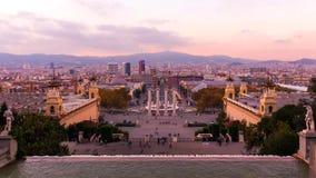 Barcellona è città capitale e più grande della Catalogna come pure il secondo comune popolato della Spagna immagine stock