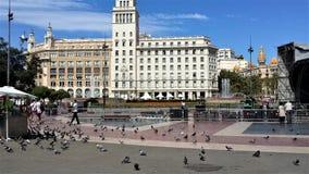 Barcellona è la bella città Fotografie Stock Libere da Diritti