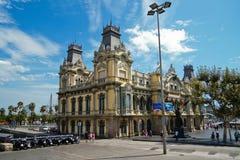 Barcellona che costruisce un porto marittimo Fotografia Stock Libera da Diritti
