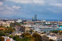 Barcellona Ciityscape Fotografie Stock Libere da Diritti