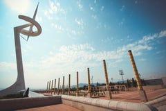 Barcellona, città olimpica 1992 Immagine Stock Libera da Diritti