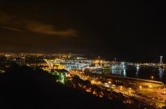 Barcellona da nigth Fotografia Stock