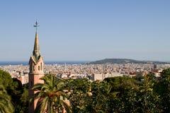 Barcellona dalla sosta Guell Fotografie Stock