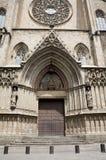 Barcellona - facciata gotica della cattedrale Immagini Stock