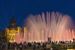 Barcellona - fontane - la Spagna Fotografia Stock Libera da Diritti