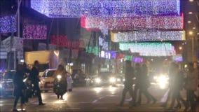 Barcellona ha acceso il Natale video d archivio