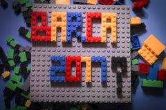 Barcellona ha eletto il voto 2017 su unità o su divisione elezioni politiche in Spagna La Spagna unificata o divisa fotografie stock libere da diritti