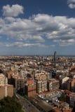 Barcellona Skyview Fotografia Stock Libera da Diritti
