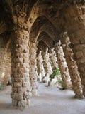 Barcellona: Sosta Guell, bella sosta da Gaudi fotografia stock libera da diritti