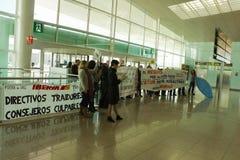BARCELLONA, SPAGNA - 13 FEBBRAIO: Colpo di Iberia a Fotografie Stock Libere da Diritti