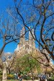 Barcellona, Spagna - 18 aprile 2016: Cattedrale di La Sagrada Familia Fotografie Stock