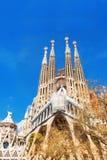Barcellona, Spagna - 18 aprile 2016: Cattedrale di La Sagrada Familia Fotografia Stock Libera da Diritti