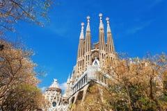 Barcellona, Spagna - 18 aprile 2016: Cattedrale di La Sagrada Familia Immagine Stock Libera da Diritti