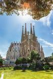 Barcellona, Spagna - 18 aprile 2016: Cattedrale di La Sagrada Familia Fotografie Stock Libere da Diritti