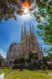 Barcellona, Spagna - 18 aprile 2016: Cattedrale di La Sagrada Familia Fotografia Stock