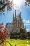 Barcellona, Spagna - 18 aprile 2016: Cattedrale di La Sagrada Familia Immagine Stock