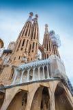 BARCELLONA, SPAGNA - 25 aprile 2016: La Sagrada Familia - cattedrale Immagine Stock