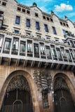Barcellona, Spagna - 18 aprile 2016: Palazzo Guell di Palau Fotografia Stock Libera da Diritti