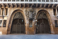 Barcellona, Spagna - 18 aprile 2016: Palazzo Guell di Palau Fotografie Stock Libere da Diritti