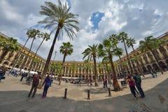 BARCELLONA, SPAGNA - 28 APRILE: Quarto gotico di Barcellona il 28 aprile 2016 a Barcellona, Spagna Immagine Stock Libera da Diritti