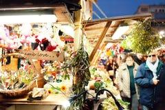Barcellona, Spagna - 9 dicembre 2015: Mercato Santa Lluc di Natale Fotografie Stock