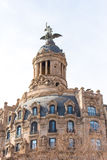 BARCELLONA, SPAGNA - 16 FEBBRAIO 2017: EL Fenix Barcellona - Passeig de Gracia - Barcelones del sindacato y della La Copi lo spaz Immagine Stock Libera da Diritti
