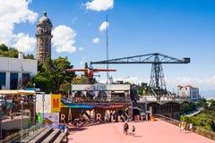 BARCELLONA, SPAGNA - 13 LUGLIO 2016: Parco di Tibidabo a Barcellona Fotografie Stock Libere da Diritti