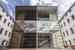 BARCELLONA, SPAIN-MARCH 19,2013: Architettura moderna ed antica, C Immagine Stock Libera da Diritti