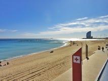 Barcellona, spiaggia della città, Spagna Immagini Stock