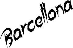 Barcellona teksta znaka ilustracja zdjęcie stock