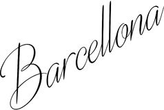 Barcellona text sign illustration Stock Photography