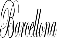 Barcellona-Text-Zeichenillustration Lizenzfreies Stockfoto
