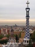 Barcellona veduta dalla sosta Guell Fotografia Stock Libera da Diritti