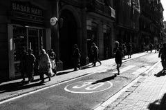 Barcellona | Via Fotografie Stock Libere da Diritti