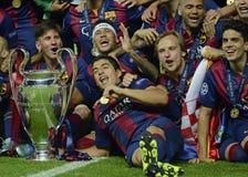 Barcellona vince il finale della lega dei campioni Fotografie Stock Libere da Diritti
