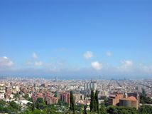 Barcellona - vista dalla sosta Guell immagini stock