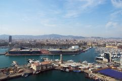 Barcellona, vista generale dal mare Immagini Stock