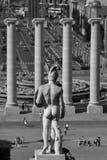 Barcelona är sexig! Svartvitt Fotografering för Bildbyråer