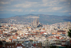 barcelona över sikt Royaltyfri Fotografi