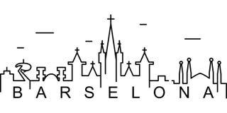 Barcelona översiktssymbol Kan användas för rengöringsduken, logoen, den mobila appen, UI, UX royaltyfri illustrationer