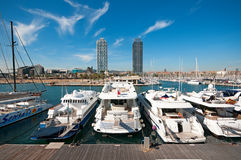 barcelona олимпийская гаван Испания Стоковые Фото