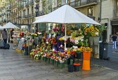 barcelona цветет rambla Стоковые Изображения RF