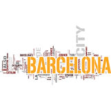 Barcelona. Word cloud on white background Royalty Free Stock Photos