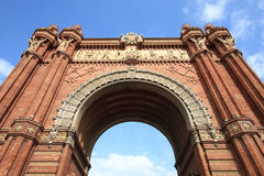 Barcelona. The Arc de Triomf (English: Triumphal Arch) - archway structure in Barcelona, Spain. Built by architect Josep Vilaseca i Casanovas. Moorish revival Royalty Free Stock Image