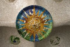 Barcelona 15 parc guell Hiszpanii Obrazy Royalty Free