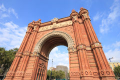 Barcelona. The Arc de Triomf (English: Triumphal Arch) - archway structure in Barcelona, Spain. Built by architect Josep Vilaseca i Casanovas. Moorish revival Royalty Free Stock Photography