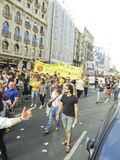 Barcelona 15M protests - Education spending cuts Royalty Free Stock Image