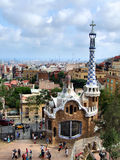 Barcelona. Landmark - Park Guell designed by famous architect Antonio Gaudi Stock Image